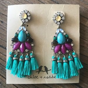 Bazaar Statement Tassel Earrings